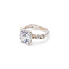 Engagement Ring, Created 2 Carat CZ Diamond, Solid Silver