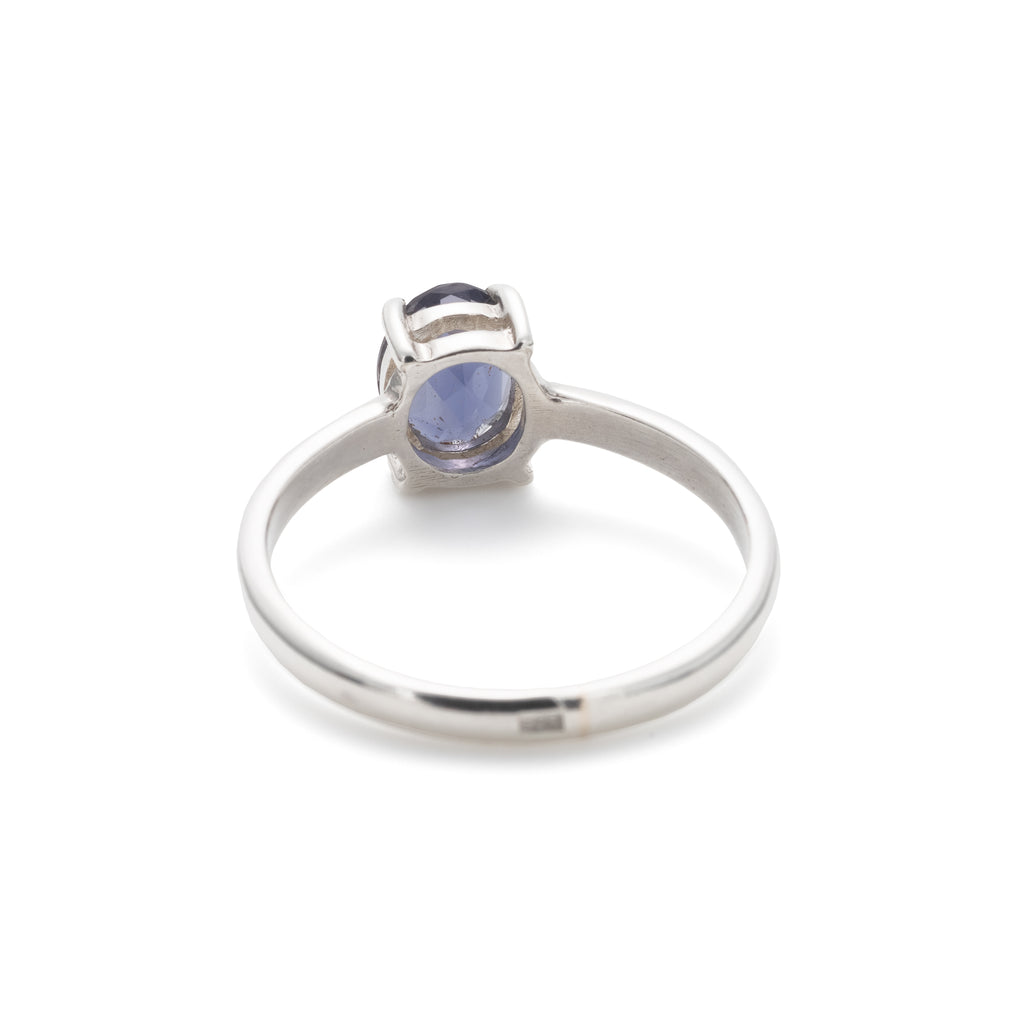 Iolite Ring, Natural Iolite, Violet Ring, Promise Ring, Solitaire Ring, Solid Silver