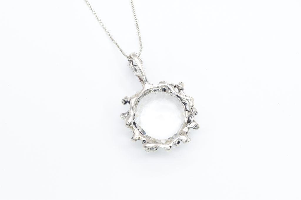 Emerald Pendant, Created Emerald, Green Oval Pendant, Green Vintage Pendant, Emerald Necklace, Dainty Green Pendant, Solid Silver Pendant