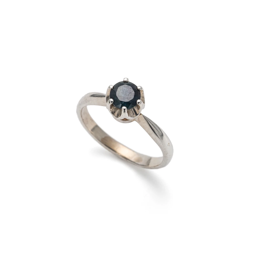 Blue Sapphire Ring, Natural Sapphire, Promise Ring, September Birthstone, Solitaire Ring, Solid 925 Sterling Silver