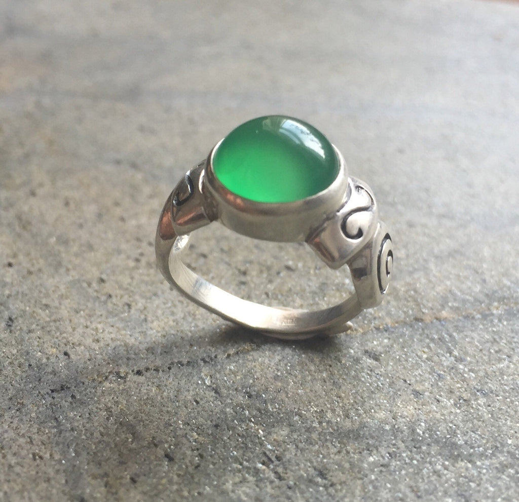 Emerald Ring, Antique Ring, Vintage Ring, Antique Emerald Ring, Antique Rings, Sterling Silver Ring, Green Vintage Ring, Solid Silver Ring