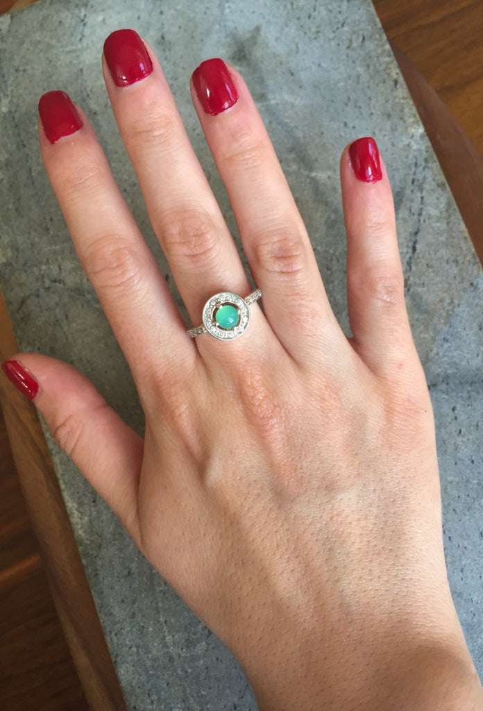 Chrysoprase Ring, Chrysoprase, Australian Chrysoprase, Promise Ring, May Birthstone, Vintage Ring, May Ring, Solid Silver Ring, Pure Silver