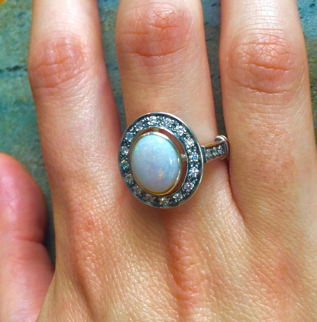 Opal Ring, Natural Opal Ring, Australian Opal, Natural Opal, Vintage Opal, Big Opal, Vintage Rings, Antique Opal, Solid Silver Ring