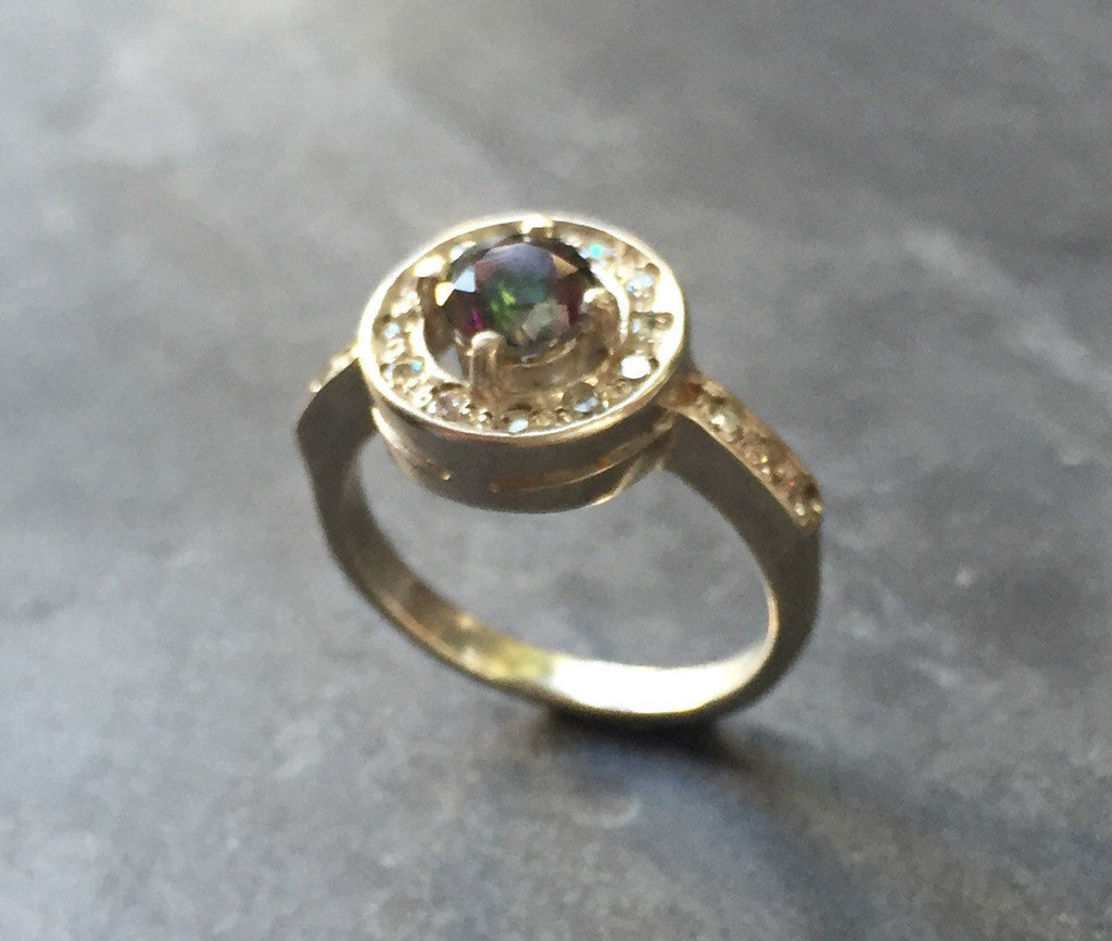 Topaz Promise Ring, Mystic Topaz Ring, Natural Topaz, Vintage Ring, Vintage Rings, December Birthstone, December Ring, Solid Silver Ring