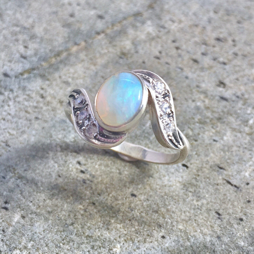 Opal Ring, Natural Opal Ring, Australian Opal, Natural Opal, Vintage Opal, Vintage Rings, Antique Opal, Solid Silver Ring, Antique Rings