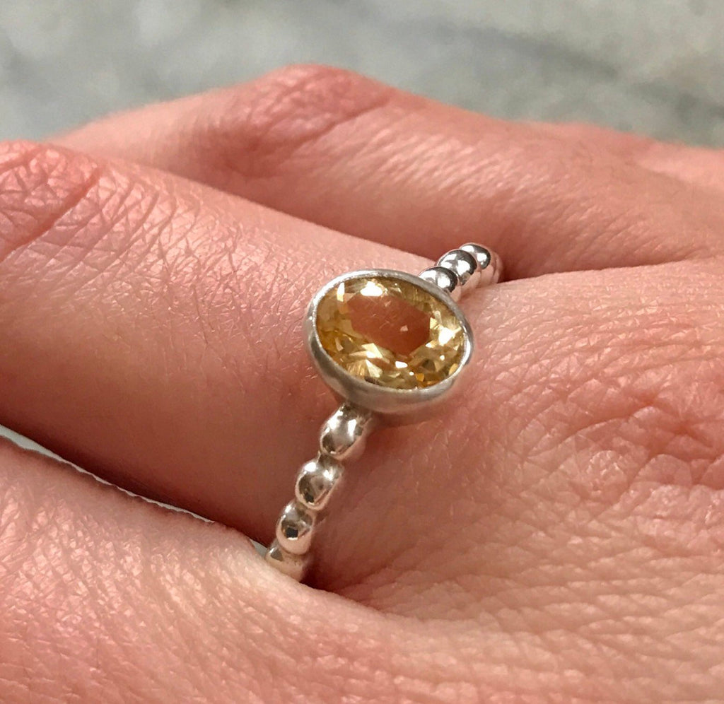 Citrine Ring, Natural Citrine, Citrine Promise Ring, October Birthstone, October Ring, Promise Ring, Solid Silver Ring, Citrine, Pure Silver