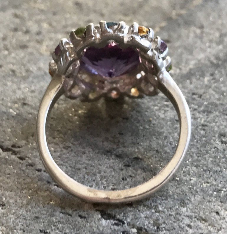 Mothers Birthstone, Amethyst Ring, Natural Amethyst, February Birthstone, Vintage Ring, Vintage Rings, Birthstones Ring, Solid Silver