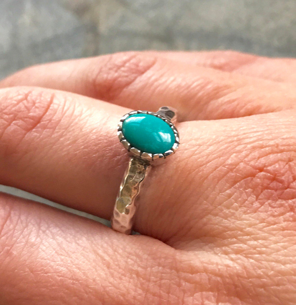 Sleeping Beauty Turquoise Ring Everyday Use Ring December Month Rings Round Turquoise Ring Natural Turquoise Ring 925 Solid Silver Ring