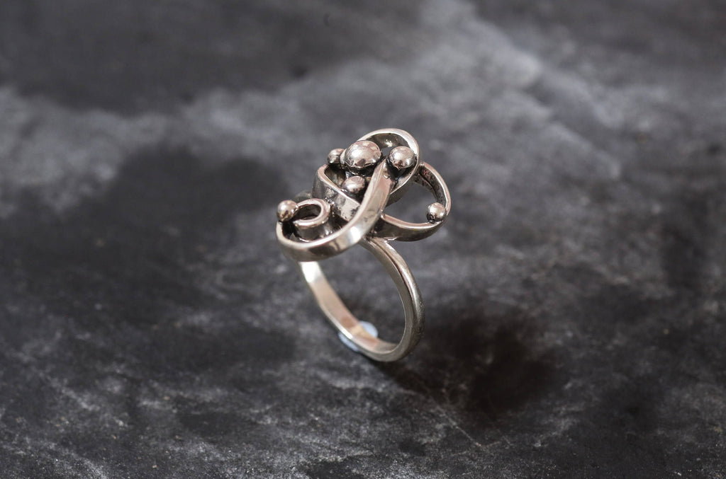 Silver Designer Ring, Solid Silver Ring, Statement Ring, Unique Silver Ring, Art Ring, Interesting Ring, Sterling Silver Ring, Silver Ring
