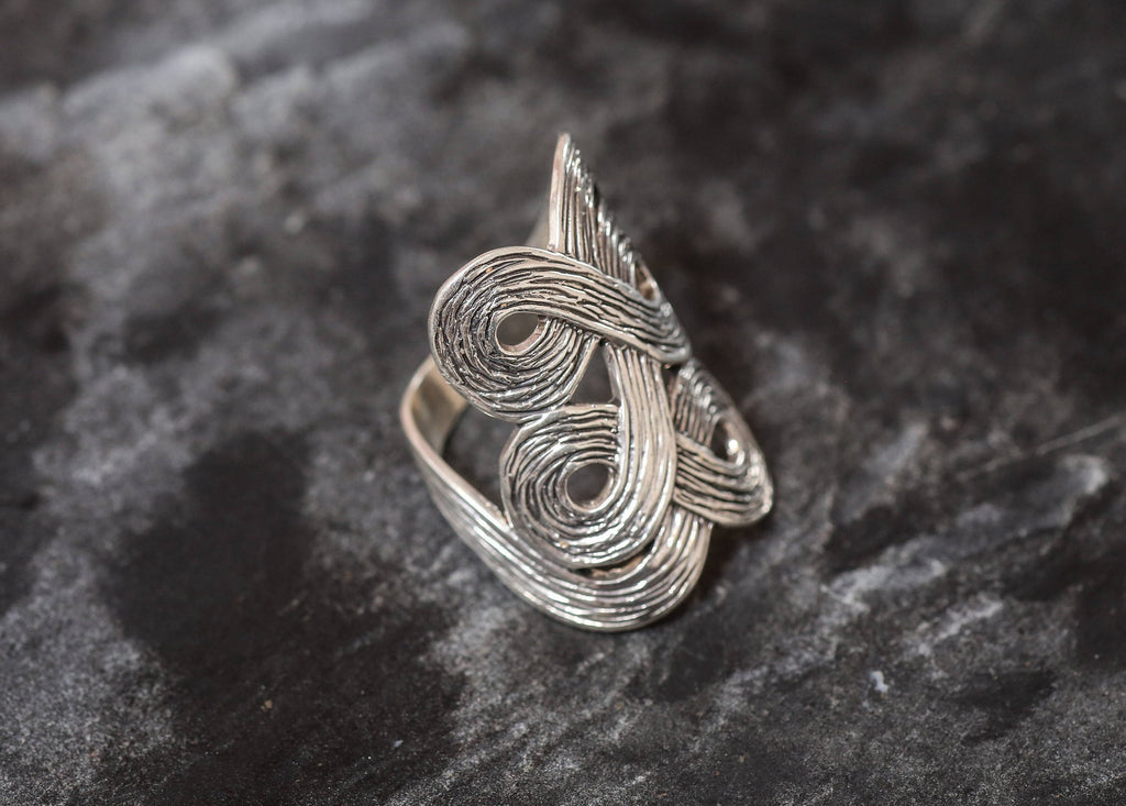 Silver Designer Ring, Infinity Ring, Solid Silver Ring, Statement Ring, Unique Silver Ring, Infinite Ring, Art Ring, Sterling Silver Ring