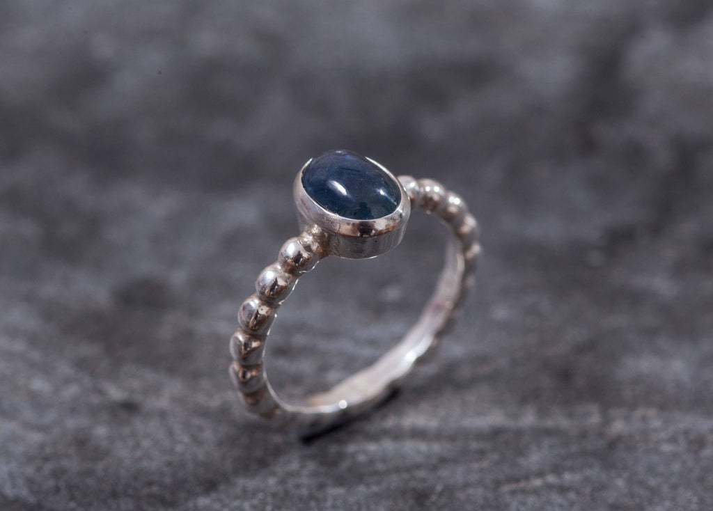 Sapphire Ring, Natural Sapphire, September Birthstone, Virgo Ring, Vintage Rings, Blue Sapphire Ring, September Ring, Solid Silver Ring