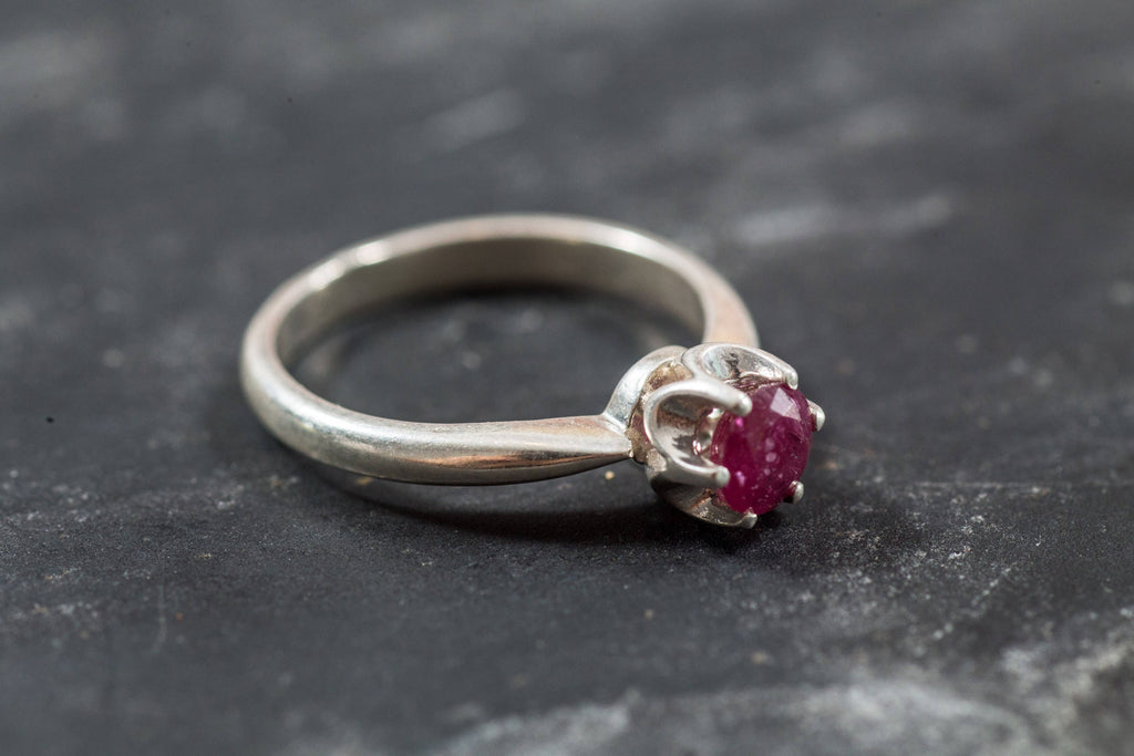 Ruby Ring, Natural Ruby, Ruby Engagement Ring, July Birthstone, Red Ring, Red Ruby Ring, Ruby Promise Ring, July Ring, Solid Silver Ring