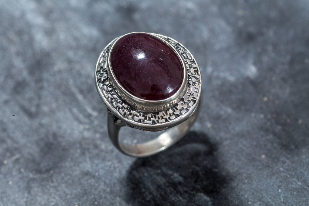 Huge Ruby Ring, Natural Ruby Ring, July Birthstone Ring, Statement Ring, Red Ruby Ring, Real Ruby Ring, July Ring, Solid Silver Ring, Ruby