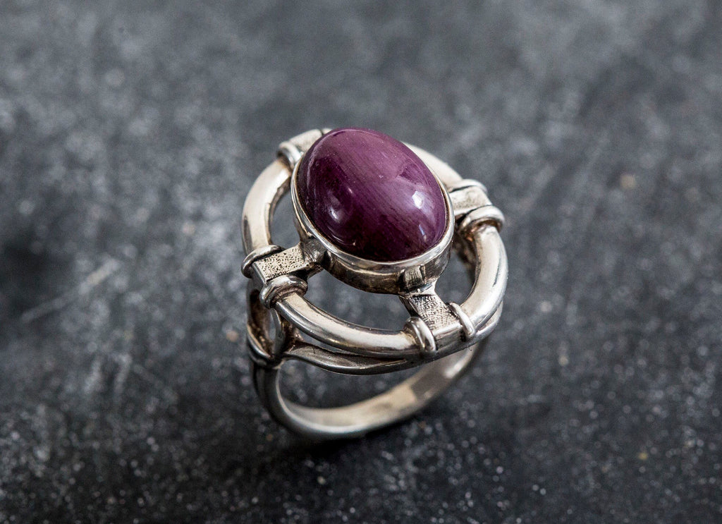 Vintage Ruby Ring, Natural Ruby Ring, July Birthstone, Ruby Ring, Statement Ring, Unique Rings, July ring, Vintage Silver Rings, Red Ring