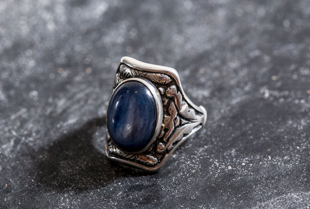 Bohemian Chick Ring, Kyanite Ring, Natural Kyanite, Blue Kyanite Ring , Blue Ring, Statement Ring, Solid Silver Ring, Kyanite, Blue Kyanite