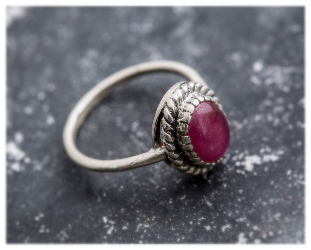 Natural Ruby Ring, Ruby Ring, 3 Carat Ruby, July Birthstone, Vintage Silver Ring, July Ring, Vintage Rings, Real Ruby, Red Ruby, Ruby