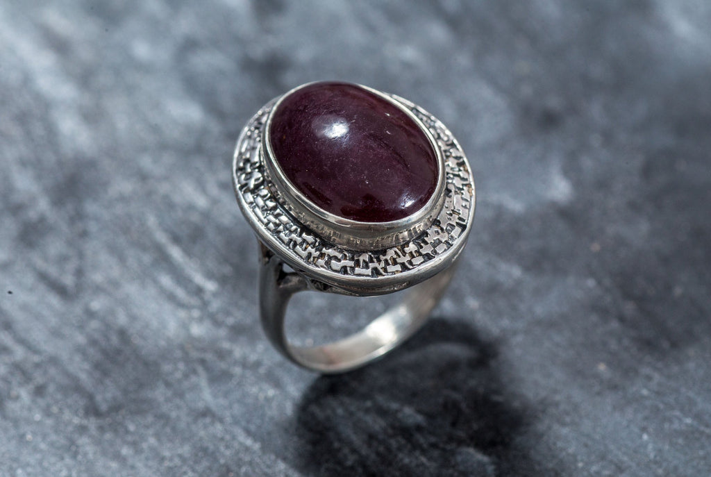 Ruby Ring, Natural Ruby, July Birthstone, 18 Carat Ruby, Statement Ring, Red Ruby, Real Ruby, Huge Stone, July Ring, Solid Silver Ring