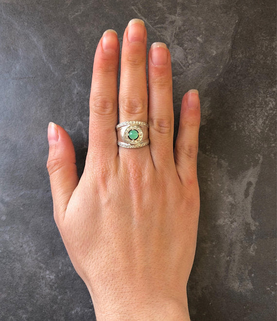 Vintage Opal Ring, Natural Opal Ring, Bezel Ring, Australian Opal, October Birthstone, Wide Silver Ring, Solid Silver Ring, Fire Opal, Opal