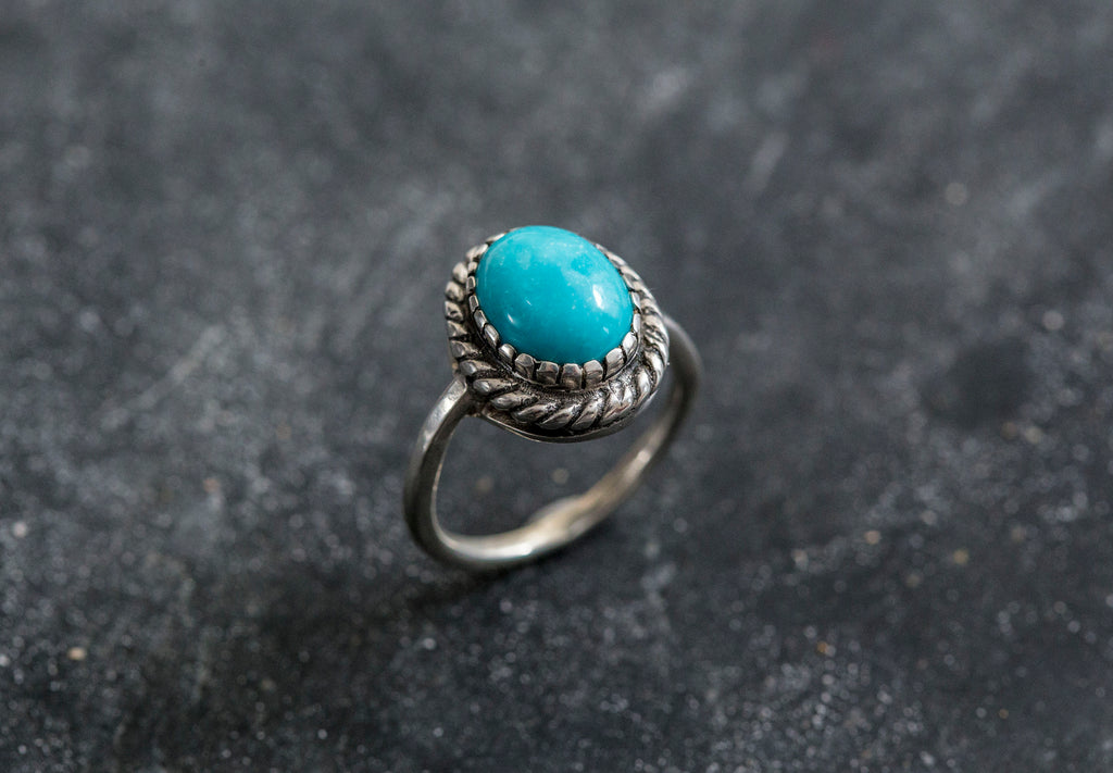 Natural Turquoise Ring, Turquoise Ring, December Ring, Vintage Rings, December Birthstone, Arizona Turquoise, Solid Silver Ring, Turquoise
