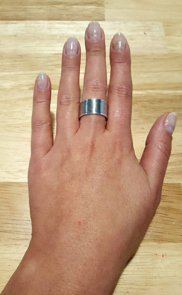 Silver Bezel Ring, Solid Silver Ring, Wide Silver Band, Art Ring, Thick Silver Ring, Large Silver Ring, Sterling Silver Ring, Silver Band