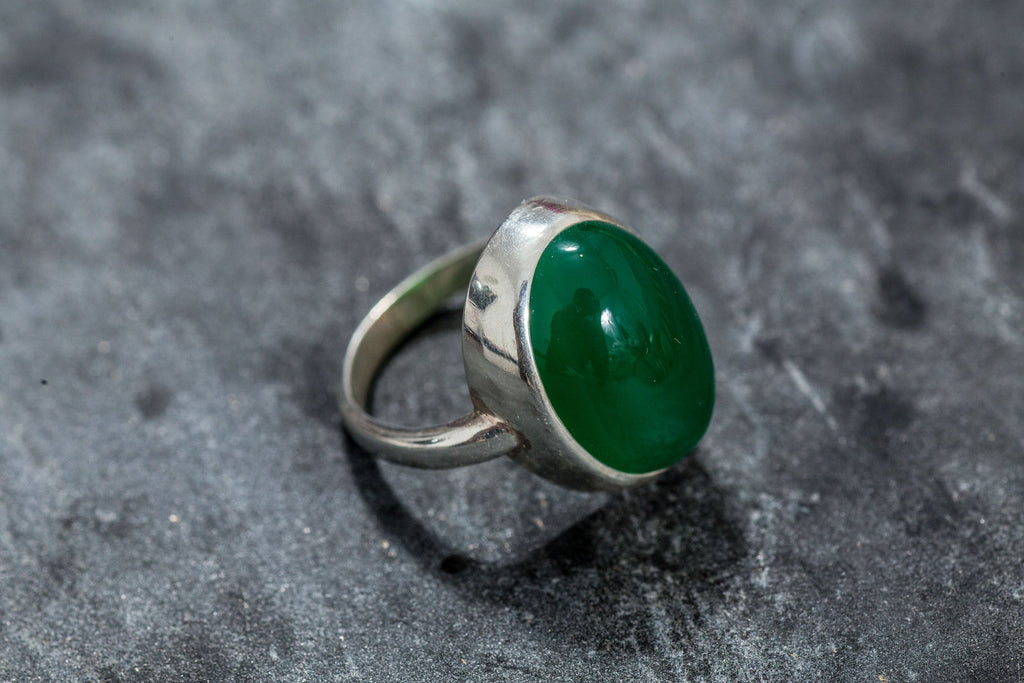 Emerald Ring, Large Emerald, Created Emerald, Green Emerald Ring, Vintage Ring, Green Ring, Emerald Green Ring, Vintage Rings, Solid Silver