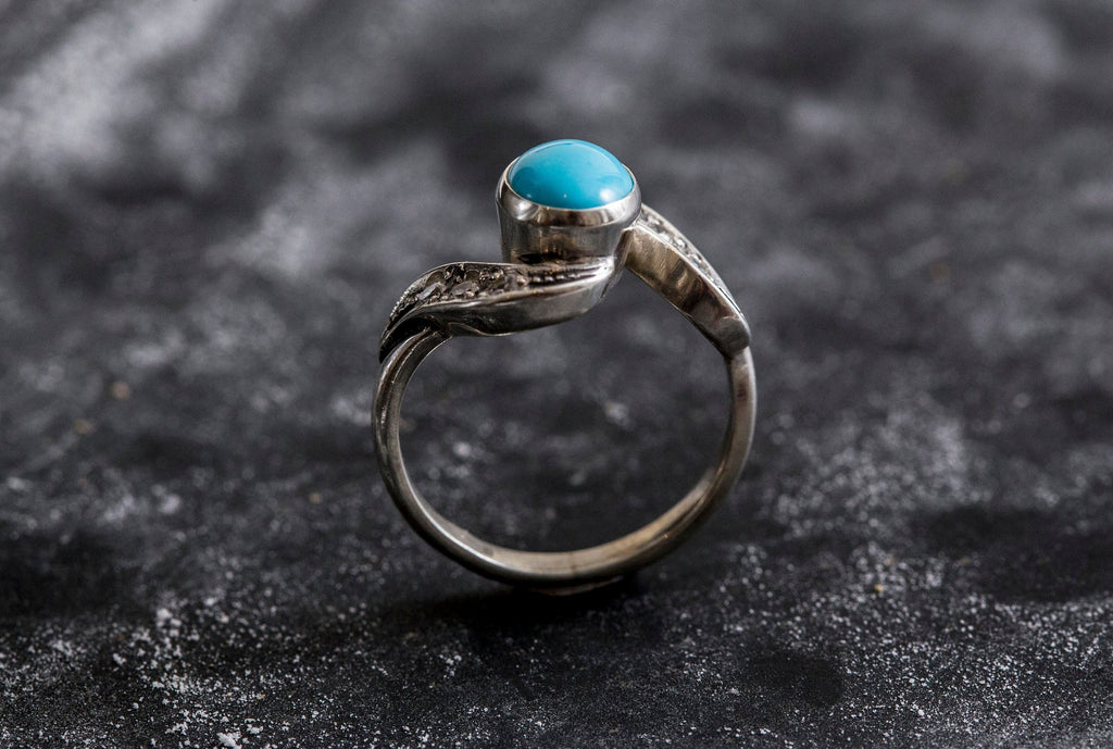 2 Carats Vintage Ring Natural Turquoise Solid Silver Ring Arizona Turquoise Sleeping Beauty Turquoise Turquoise Ring Real Turquoise
