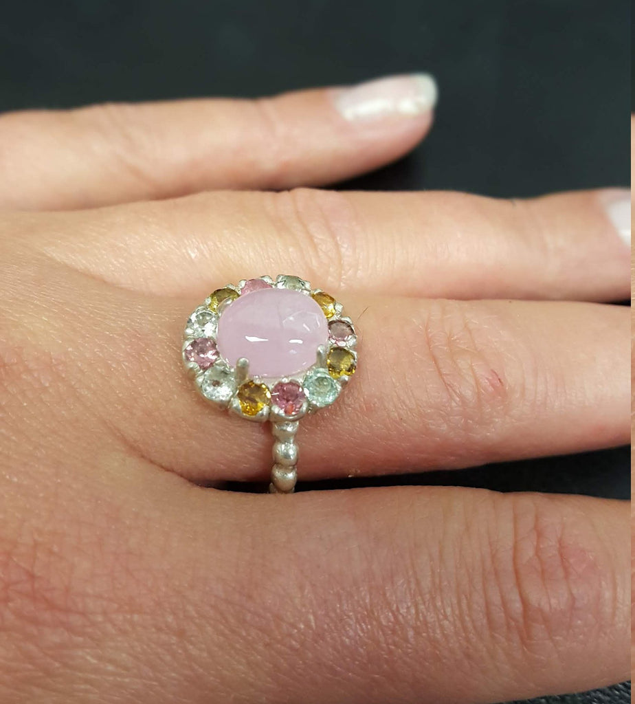 Pink Tourmaline Ring, Tourmaline Ring, Natural Tourmaline, October Birthstone, Victorian Ring, October Ring, Solid Silver Ring, Tourmaline