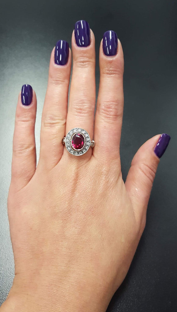 Red Vintage Ring, Ruby Ring, Created Ruby, Red Ruby Ring, Red Ring, Antique Ruby Ring, Vintage Ring, 925 Silver Ring, Red Diamond Ring, Ruby