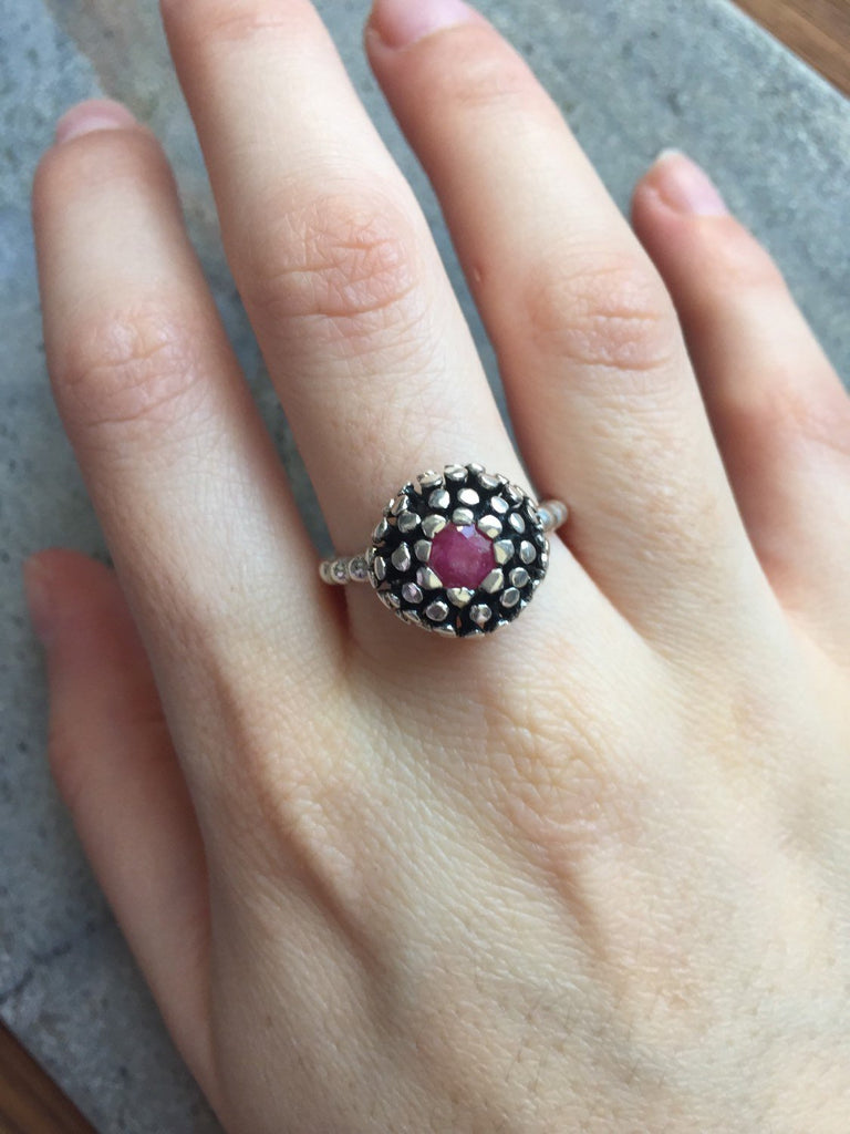 Vintage Ruby Ring, Natural Ruby Ring, Antique Ruby Ring, Vintage Rings, Silver Ruby Ring, Game of Thrones Ring, Solid Silver Ring