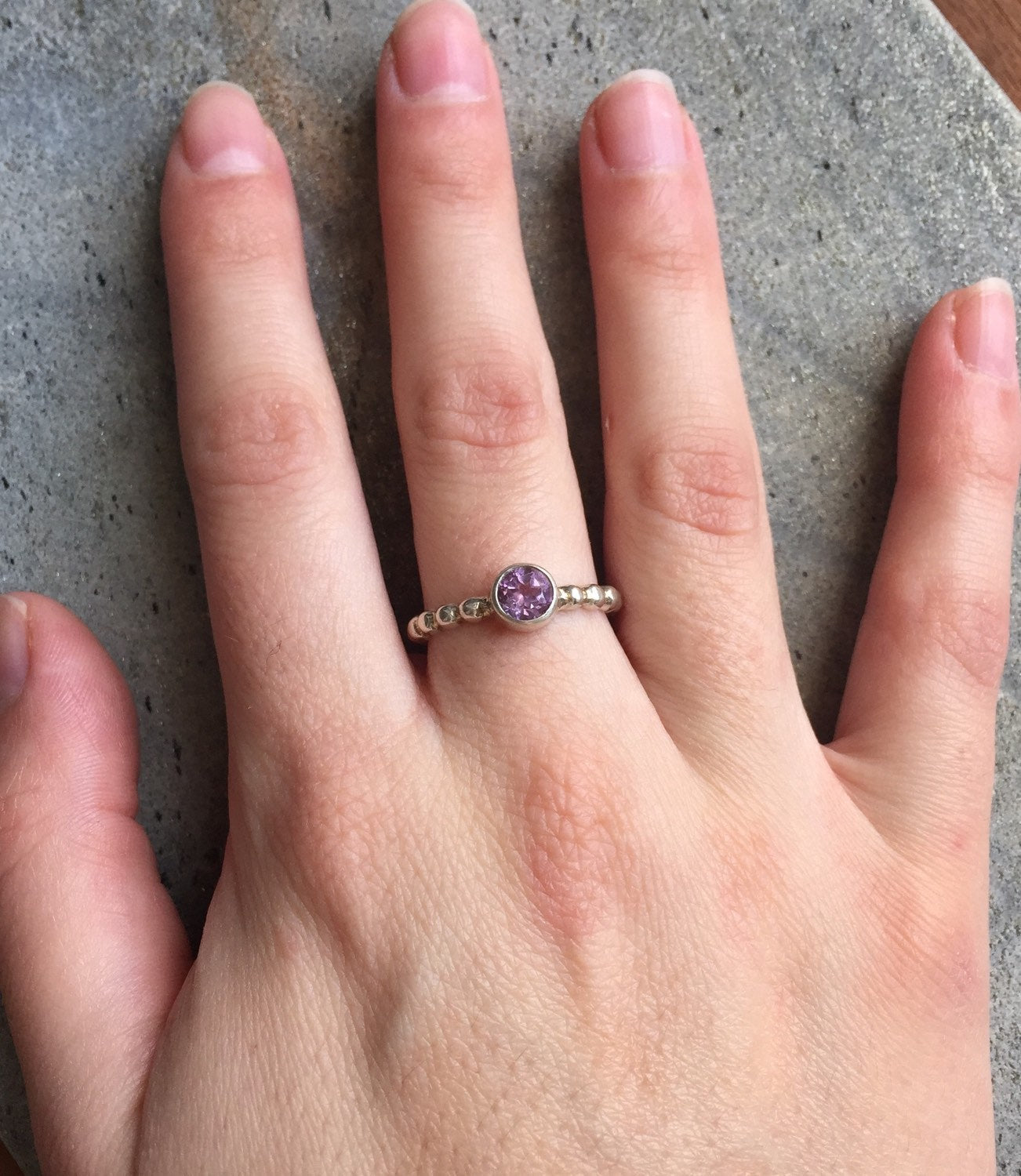 a95625f02 ... Amethyst Ring, Stackable Ring, Stackable Rings, Birthstone Ring, Pandora  Rings, February