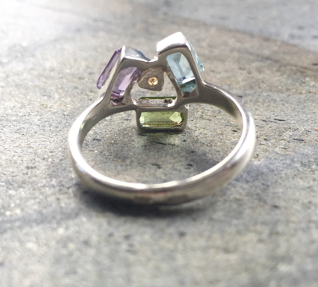 Topaz Ring, Amethyst Rings, Peridot Rings, Blue Topaz Ring, Citrine Rings, Pure Silver, Birthstone Ring, Solid Silver Ring, Vintage Rings