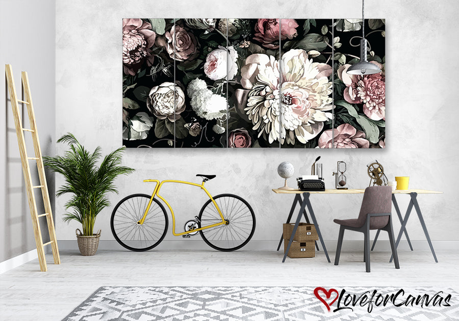 Beautiful Floral | Nature | Multi Panels Canvas