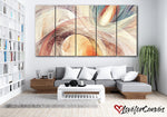 Orange Fractal Abstract | Multi Panels Canvas