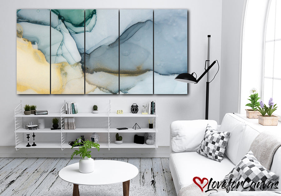 Beautiful Blue Abstract | Multi Panels Canvas