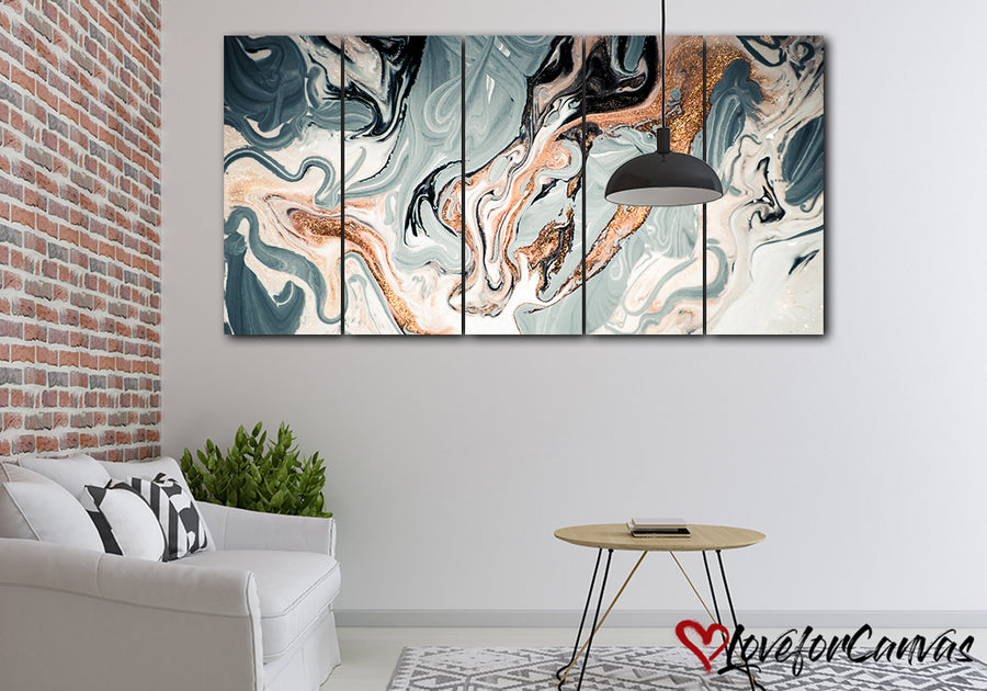 Artistic Oil Abstract | Multi Panels Canvas