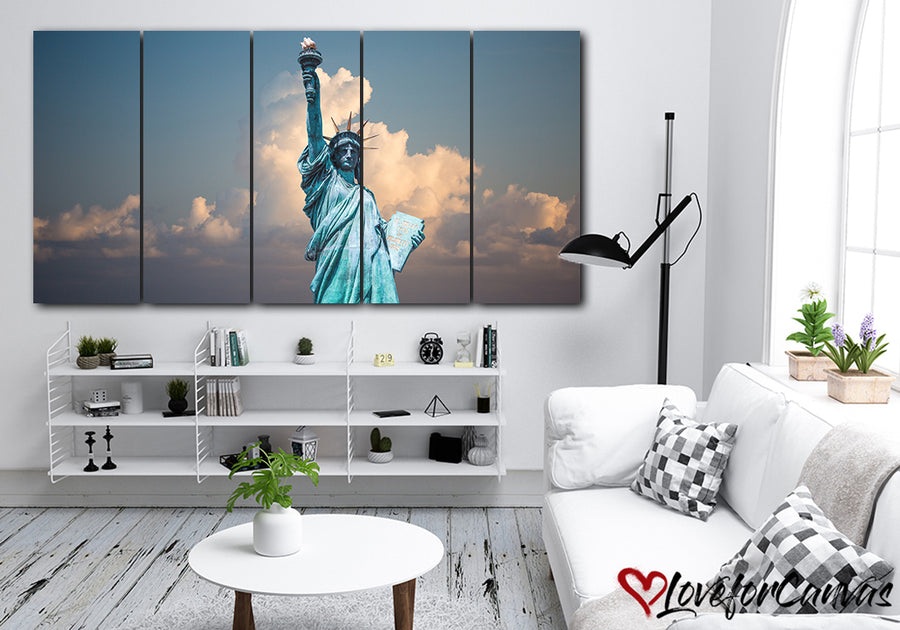 Statue Of Liberty | Patriotic | Multi Panels Canvas