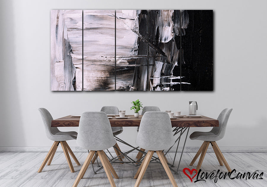 Black Pink Abstract | Multi Panels Canvas