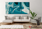Turquoise Marble Abstract | Multi Panels Canvas