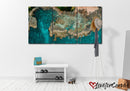 Green Rocky Beach | Multi Panels Canvas