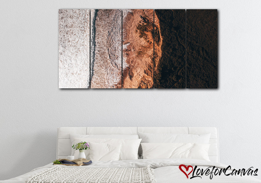 Serene Beach | Multi Panels Canvas