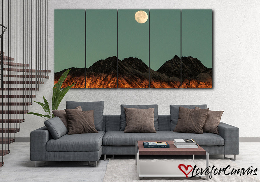 Moon Mountain | Nature | Multi Panels Canvas