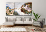 The Creation Of Adam | Renaissance | Multi Panels Canvas