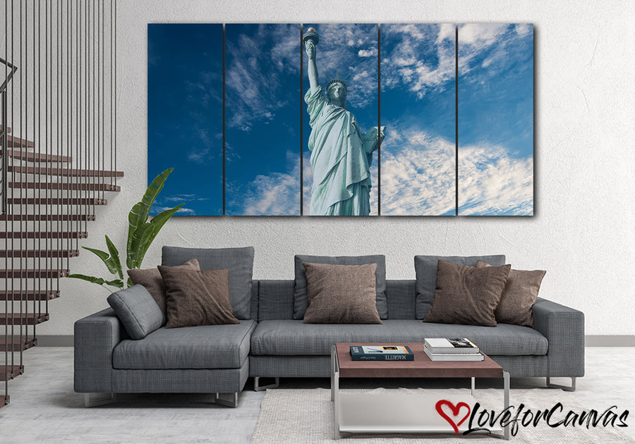 Beautiful Statue Of Liberty | Patriotic | Multi Panels Canvas