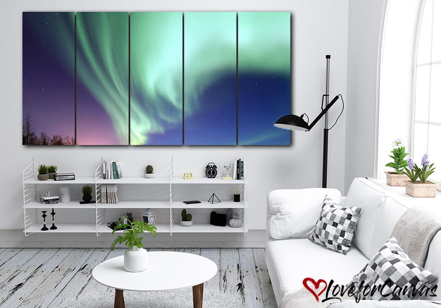 Northern Lights | Nature | Multi Panels Canvas