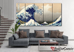 The Great Wave off Kanagawa | Renaissance | Multi Panels Canvas