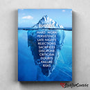 Success Iceberg | Motivational | Canvas Poster