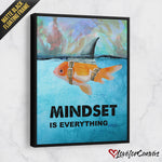Mindset Is Everything | Motivational | Canvas Poster