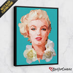Marilyn Monroe Lowpoly | Legends | Canvas Poster