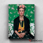 Frida Kahlo - Greens | Legends | Canvas Poster