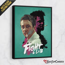 Fight Club - Turquoise | Movies Fanart | Canvas Poster